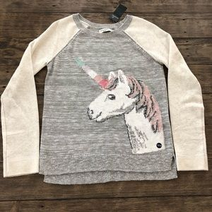 Abercrombie Kids Unicorn Pullover Sweater Sparkly